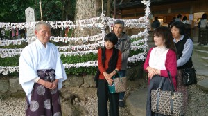 籠神社海部宮司と歓談