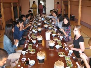 喜楽家での日本食体験