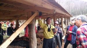 最古の登り窯修復作業