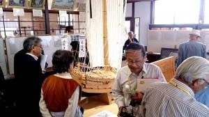北前船資料館で精密に作られた北前船の模型や資料を見学