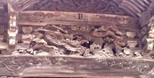 温泉寺薬師堂の中井権次作の龍