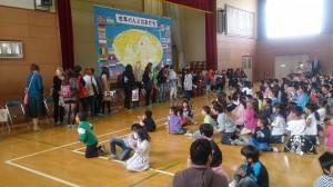歓迎の全校集会