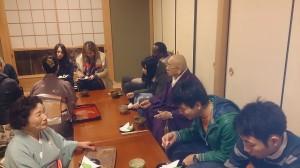 了圓寺でお茶をいただきました