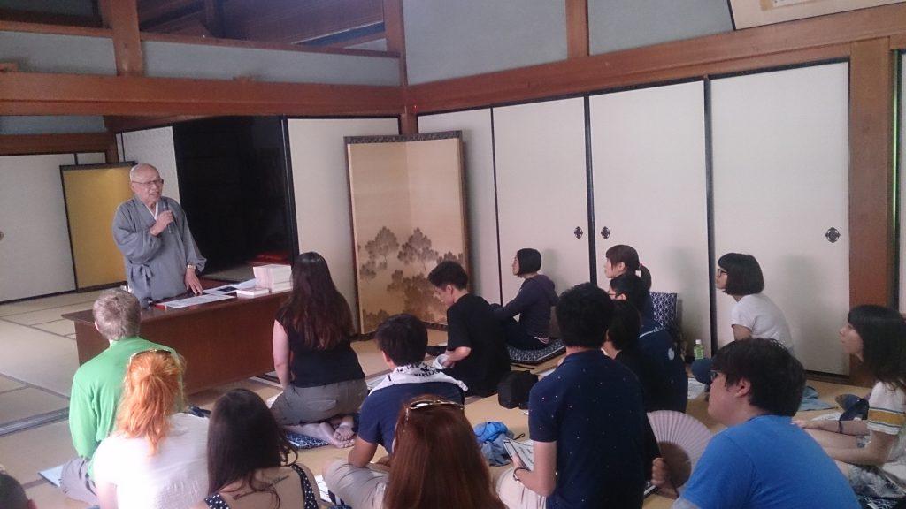 松尾心空名誉住職の講話