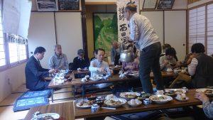 地域の食材を育てる会の昼食